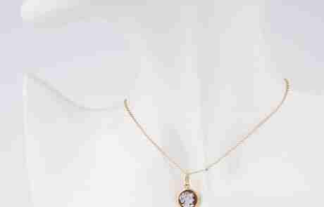 cameo pendenti in argento laccato oro